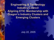 Economic Impact - Engineering and Technology Industry Council