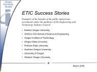 ETIC Success Stories - Engineering and Technology Industry Council