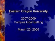 Eastern Oregon University - Engineering and Technology Industry ...
