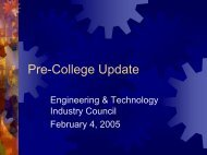 Update - Engineering and Technology Industry Council