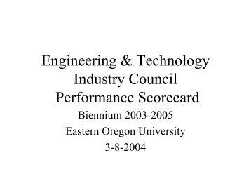 03-31-04 - Engineering and Technology Industry Council