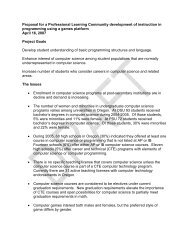 Proposal for a Professional Learning Community development of ...