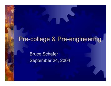 Pre-college & Pre-engineering