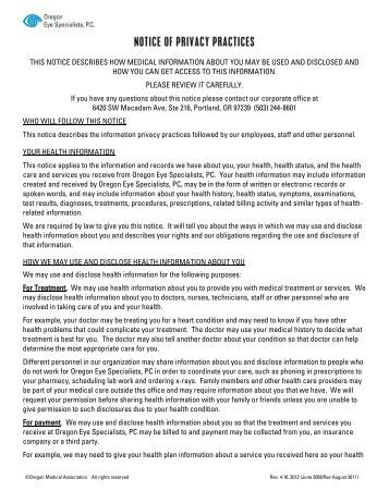 notice of privacy practices template - family practice management superbill template aapc
