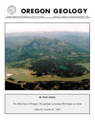other face of Oregon: The geologic processes that shape our state