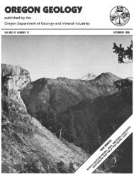 December 1985 - Oregon Department of Geology and Mineral ...