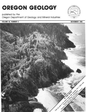 November 1990 - Oregon Department of Geology and Mineral ...