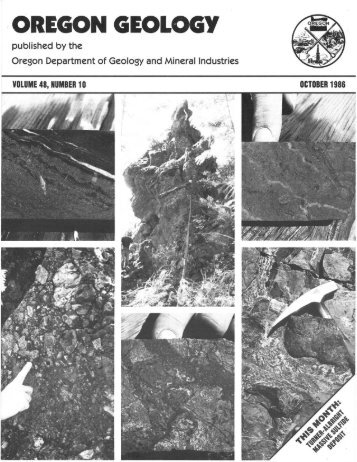 October 1986 - Oregon Department of Geology and Mineral Industries