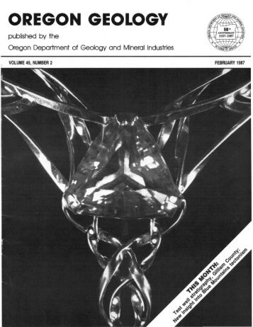 February 1987 - Oregon Department of Geology and Mineral ...