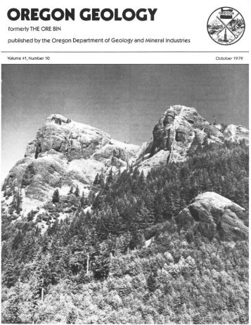 October 1979 - Oregon Department of Geology and Mineral Industries