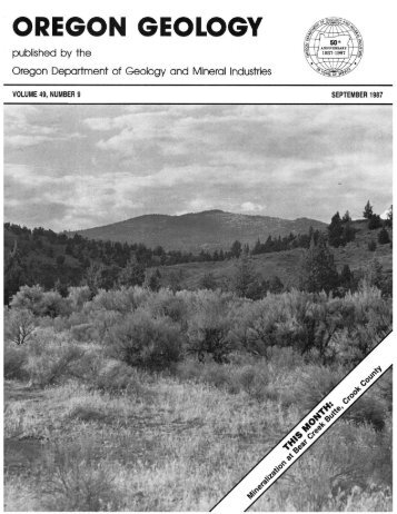 Vol.49, no.9 (September 1987) - Oregon Department of Geology and ...