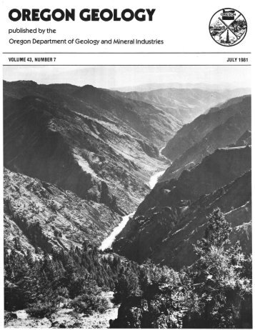 Vol.43, no.7 (July 1981) - Oregon Department of Geology and ...