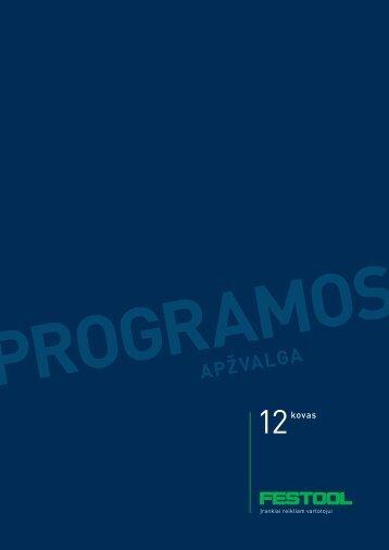 """Festool katalogas """"Programos apžvalga 2012 Pavasaris"""""""