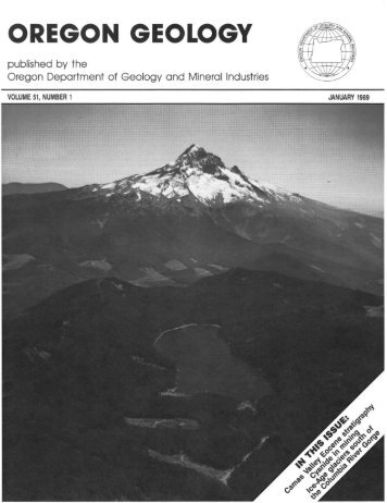 Ore Bin / Oregon Geology magazine / journal - Oregon Department ...