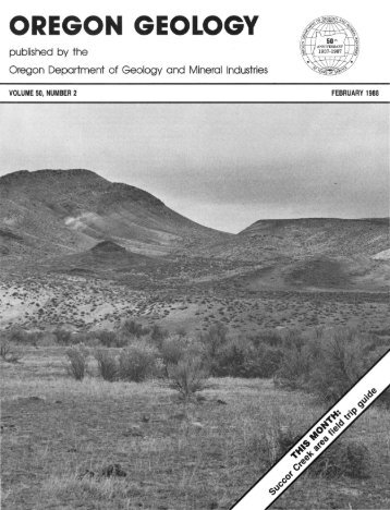 February 1988 - Oregon Department of Geology and Mineral ...