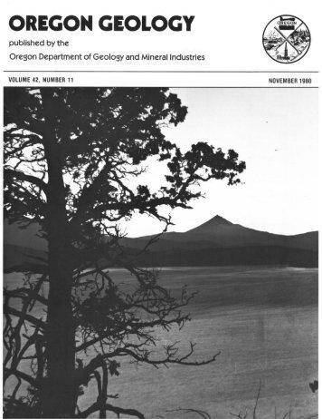 Vol.42, no.11 (November 1980) - Oregon Department of Geology ...