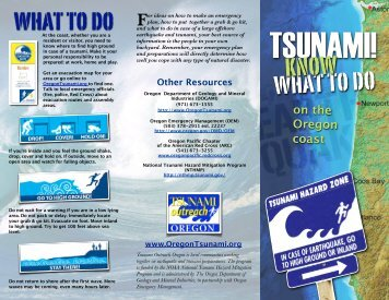 What is a tsunami? - Oregon Department of Geology and Mineral ...