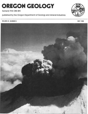 Vol.42, no.5 (May 1980) - Oregon Department of Geology and ...