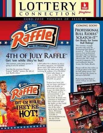 4th of July RaffleSM - Oregon Lottery
