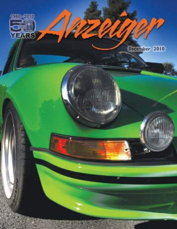 Anzeiger December 2010.qxd - Oregon Region Porsche Club of ...