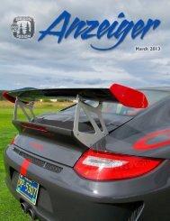 March 2013 Anzeiger - Oregon Region Porsche Club of America