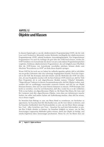 Kapitel 12: Objekte und Klassen - beim O'Reilly Verlag