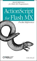 ActionScript for Flash MX Pocket Reference - O'Reilly Media