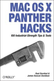 MAC OS X PANTHER HACKS 100 Industrial-Strength Tips & Tools ...