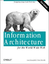 Information Architecture for the World Wide Web - O'Reilly Media