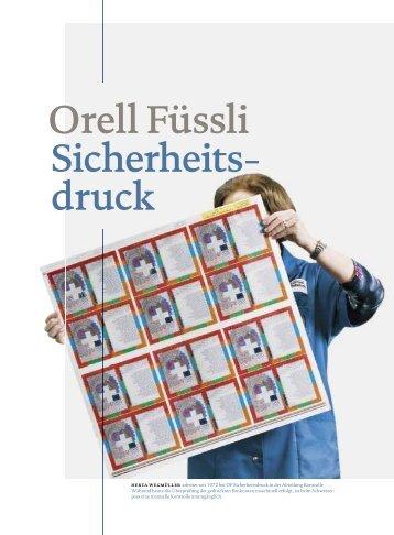 Auszug aus dem Porträt Orell Füssli