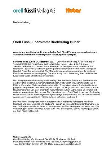 Huber & Co. - Orell Füssli Holding AG