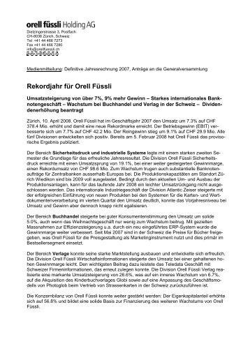 MM GJ 07 d def - Orell Füssli Holding AG
