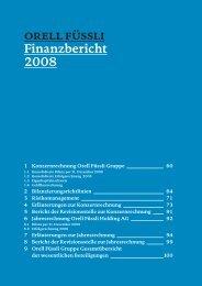 orell füssli Finanzbericht 2008 - orell füssli holding ag