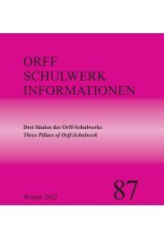 Für Umbruch Orff 76 - Orff Schulwerk Forum Salzburg