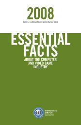 2008 Essential Facts About the Computer and Video Game Industry