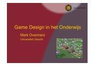 Game Design in het Onderwijs