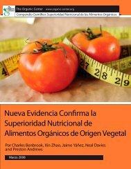 Nueva Evidencia Confirma la Superioridad Nutricional de Alimentos ...