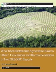 What Does Sustainable Agriculture Have to Offer? Conclusions and ...