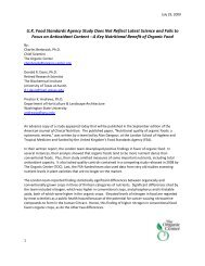 Review of FSA Sponsored Study on Nutrient Content - The Organic ...