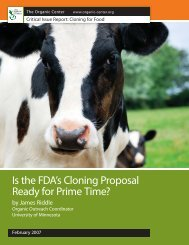 Is the FDA's Cloning Proposal Ready for Prime Time? - The Organic ...