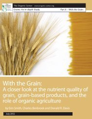 Full Report: With the Grain - The Organic Center