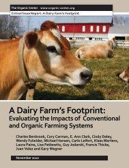A Dairy Farm's Footprint: - The Organic Center
