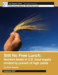 Still No Free Lunch.indd - The Organic Center