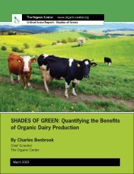 Shades of Green: Quantifying the Benefits of Organic Dairy Production