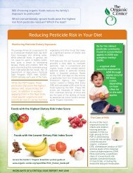 Reducing Pesticide Risk in Your Diet - The Organic Center