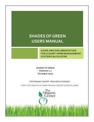 User's Manual - The Organic Center