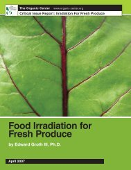 Food Irradiation for Fresh Produce - The Organic Center