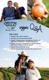 TDUE or FALSE - The Organic Center