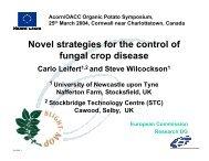Presentation - Centre d'agriculture biologique du Canada