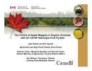 The Control of Apple Maggots in Organic Orchards with GF-120 NF ...